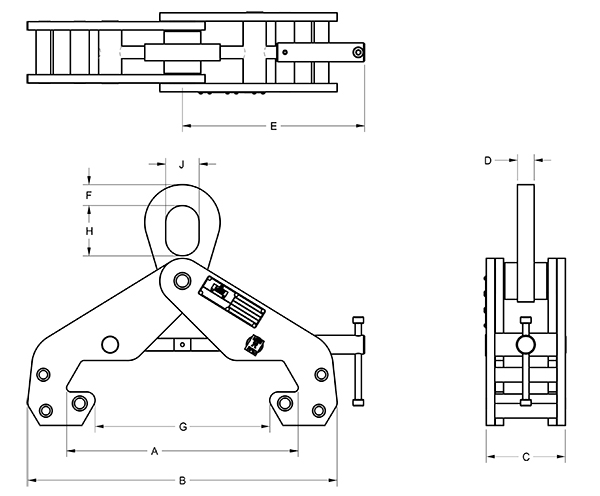 Beam Clamp Large Frame 13659 2D 2019